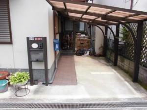 枚方市 T様邸 排水桝及び玄関アプロ-チ工事